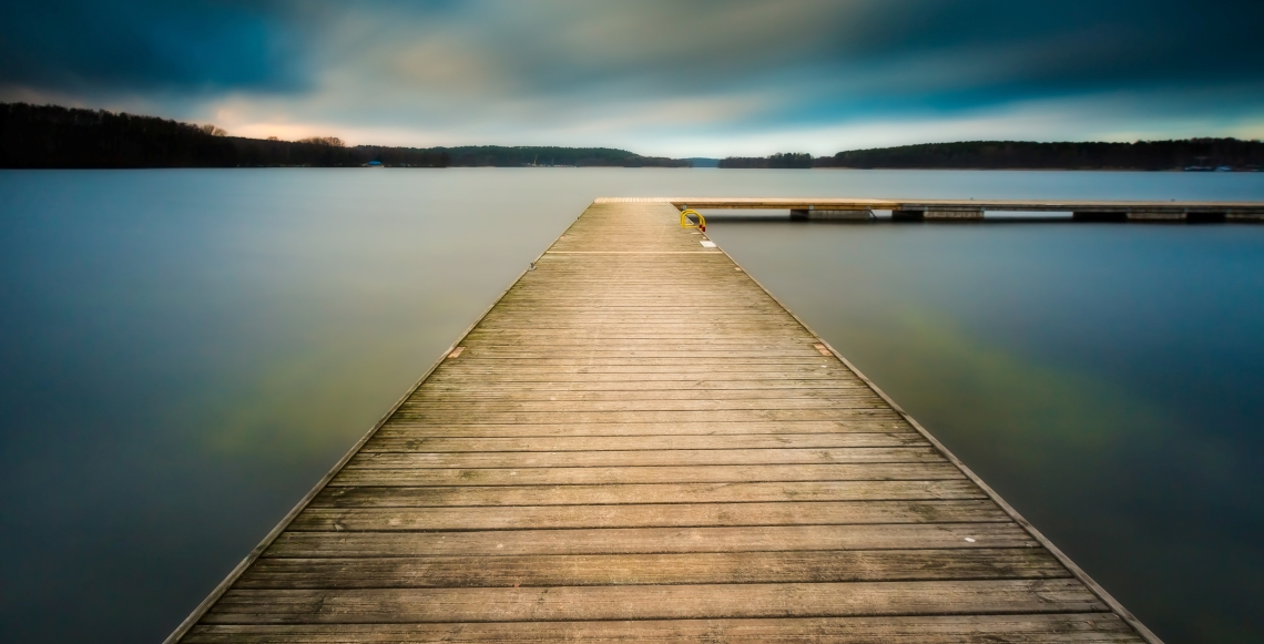 Lake landscape dock